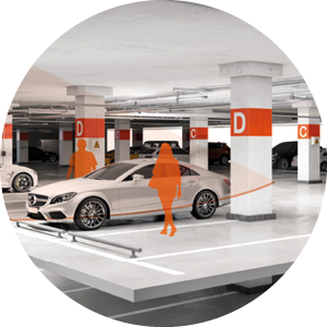 Building-Intelligence-Parking Solutions-Licht-Schwarmfunktion-Steinel